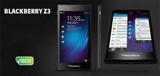 BlackBerry Z3 smartphone lands in India, Priced at Rs 15,990