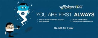 Flipkart First - Premium Subscription Service launches for Rs 500 per Year