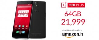 OnePlus One get's a Price tag of Rs 21,999 for 64GB variant & available exclusively on Amazon India
