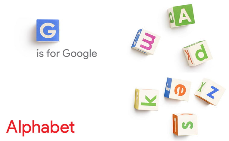 A for Alphabet becomes the new parent company of G for Google, Sundar Pichai as Google CEO