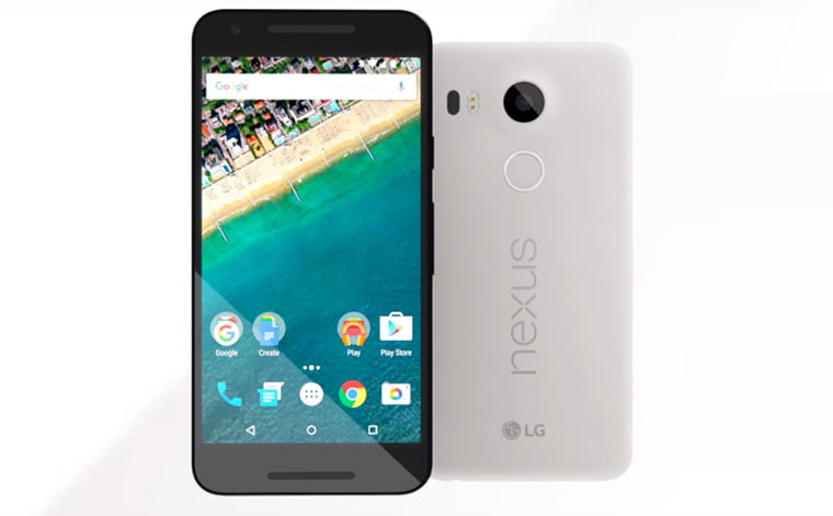 Nexus 5X –  5.2 inch Full HD, Snapdragon 808, Fingerprint sensor & Marshmallow